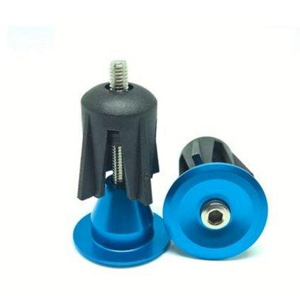 Blue Aluminum Handlebar (Bicycle Road MTB Cycling Handlebar Grips Aluminum End Plugs Cap (Blue))