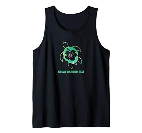 Sea Turtle Great Barrier Reef Vacation Souvenir Tank Top