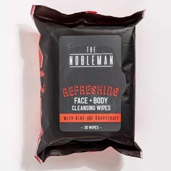 FACE & Body Mens Wipes 30CT Refreshing Cleansing Nobleman, Case Pack of 24
