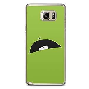 Smiley Samsung Note 5 Transparent Edge Case - Design 2