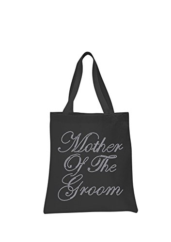 Black Mother Of The Groom Crystal Wedding Favour Tote Bags personalised bridal hen party gift bags by CrystalsRus