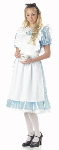 California Costumes Women's Alice Costume,White/Blue, (Alice In Wonderland Costumes Ladies)