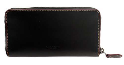 COACH MICKEY Accordion Zip Wallet In Glove Calf Leather (Black) by Coach (Image #2)