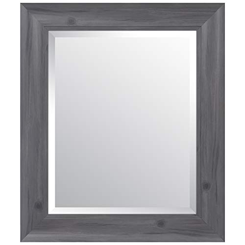 Everly Hart Collection Scoop Beveled Wall Mounted Accent Mirror, 16