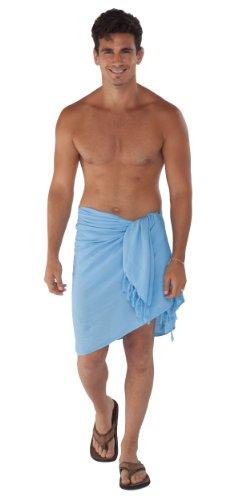 Mundo 1 Unicolor Azul Sarongs Hombres Claro Sarong De Para RAwqX