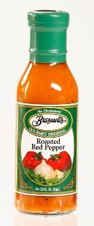 Braswell Creamy Roasted Red Pepper Dressing 12 oz Bottle (Pack of 2)
