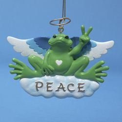 Ornament Peace Angel - ANGEL PEACE FROG ORNAMENT