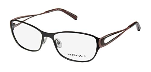 (Koali 7259k Womens/Ladies Rx-able Premium Segment Designer Full-rim Eyeglasses/Eyeglass Frame (54-16-135, Black / Blush / Brown))