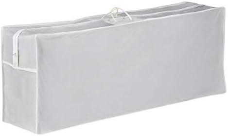 zum Verstauen und Transportieren von Gartenm/öbelauflagen wie Hochlehnerauflagen Farbe wei/ß wasserdichte Schutztasche mit Tragegriffen Zoomyo Polsterauflagen Tasche