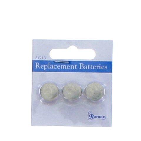 Roman Batteries AG13 LR44 Button Cell 3 Pack