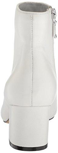 Women's Leather Ankle Bright The Bootie Daniella Boot Fix Block Heel White vwq85UqX