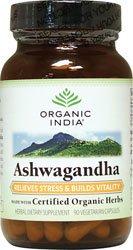 Органические Индия Ashwagandha 90 Vcaps