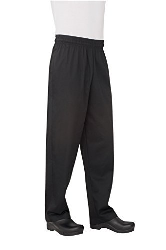 Chef Works NBBP Basic Baggy Chef Pants, Black, 2X-Large by Chef Works