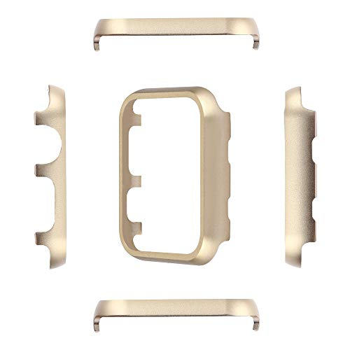 (Compatible with Apple Watch Case 38mm 42mm, Aluminum Alloy Frame Case Metal Bumper Protective Cover Case Lightweigh Bumper Shell for Apple Watch iWatch Series 3 2 1 (Gold, 42mm))