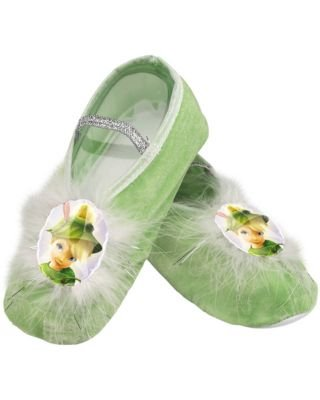 Child Tinker Bell Ballet Slippers, Green, Standard