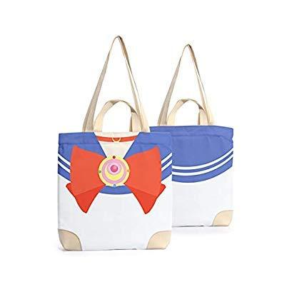Bloomerang Anime Totgold Canvas Tote Bag Shopping School Books Bag Women Shoulder Bags Travel Handbag for Boys Girls color Sailor Moon