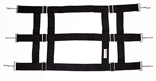(Derby Originals Premium Poly Web Stall Guard with Quick Connect Clips - Open Air Design, Adjusts from 36-48