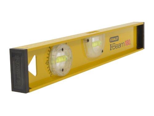 Stanley I-Beam 180° Wasserwaage, Lineal, 40 cm Länge, Aluminium, horizontale / justierbare Libelle, 1-42-919