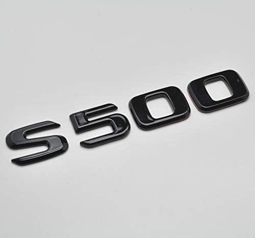 Schwarz gl/änzend S500 Flaches Benz Auto Modell nummeriert Buchstabe Abzeichen Emblem f/ür Benz S Class W220 W221 W222//C217//A217 AMG