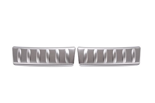 For Jaguar F-Pace X761 2016 stainless steel Inner Rear Bumper Guard Plate Cover Trim by METYOUCAR