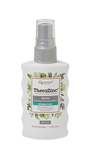 Quantum Health TheraZinc Oral Spray, Made with Zinc Gluconate for Immune Support and Throat Relief in a Soothing Spray, 2 Oz. ()