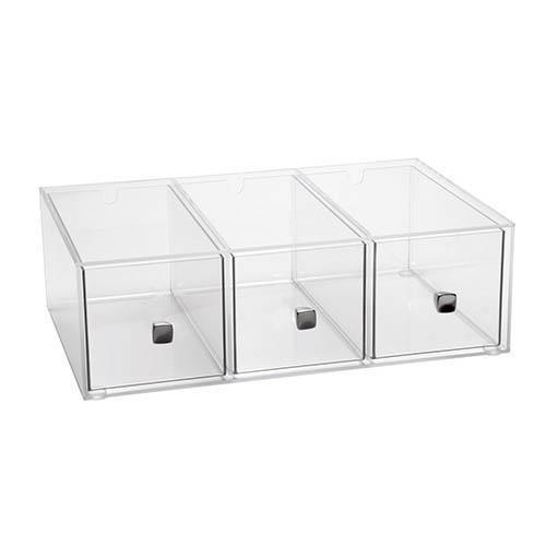 Cal-Mil 1479 Eco Modern Merchandiser, 19'' W x 13'' D x 6'' H, Silver