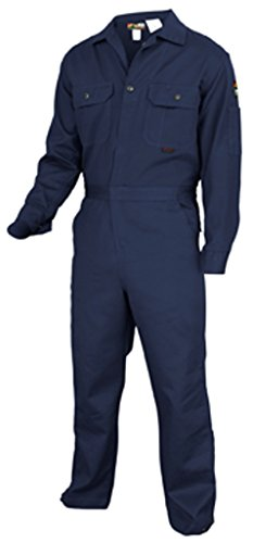 - MCR Safety DC1N40 Deluxe Contractor Flame Resistant (FR) Coveralls, Navy Blue, Size 40, Chest 40-Inch, Waist 34-Inch, Inseam 30-Inch