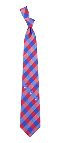New York Rangers Check Polyester Neck Tie NHL Hockey Team Logo