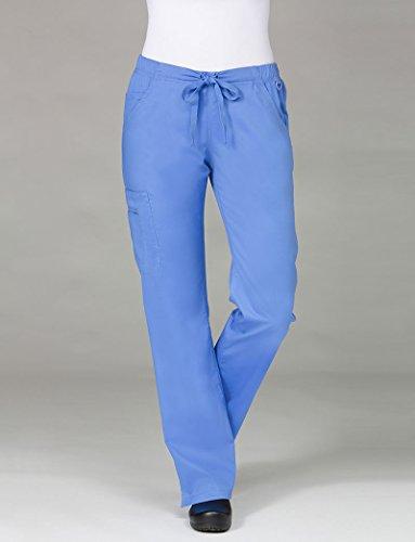 Blossom By Maevn Women's Straight Leg Cargo Scrub Pant Medium Ceil ()