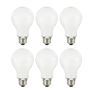SYLVANIA General Lighting 40811, Daylight SYLVANIA LED A21 Natural Light Series, 100W Equivalent, Efficient 13W, Dimmable, Frosted Finish, 5000K Color Temperature, 6 Pack