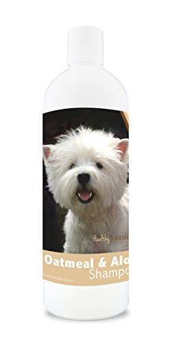 Healthy Breeds Dog Oatmeal Shampoo with Aloe for West Highland White Terrier - Over 75 Breeds - 16 oz - Mild and Gentle for Itchy, Scaling, Sensitive Skin - Hypoallergenic Formula and pH Balanced