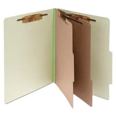 Classification Folders, 3 quot; Exp,Legal,2 Partition,Leaf Green
