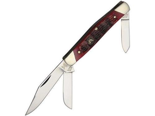 Hen Rooster HR343RPB Stockman Red Pickbone Folding Knife Folder 3 7/8'', Folder for Camping Hiking Hunting Survival Self Defence and practical use + (Red Pickbone)