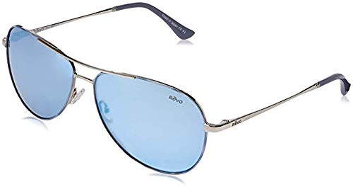 (Revo Unisex RE 1014 Relay Aviator Polarized UV Protection Sunglasses, Polished Chrome Frame, Stealth Lens)