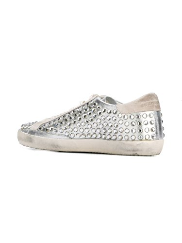 Golden Goose Sneakers Donna G29WS590F24 Pelle Argento