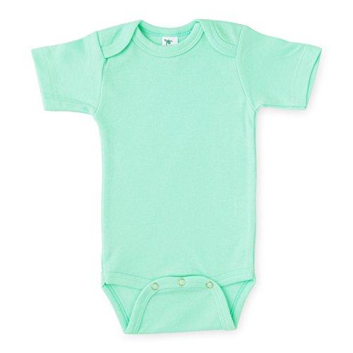 - Laughing Giraffe Baby Short Sleeve Infant Onesie Bodysuit (Mint, 12-18 Months)