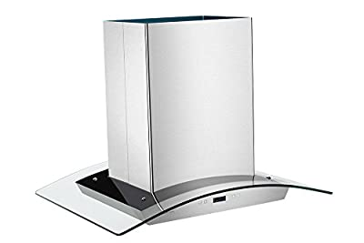 Cavaliere-Euro 30W in. Tempered Glass Canopy Island Range Hood