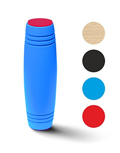 Fidget Stick: Top Quality Spinning Mokuru Fidget Toy/ Amazing Desk Toy For Kids Adults - Best Toy For Stress Relief/ The Coolest Sleek, Easy to Flip Roll / Great Desk Gift (blue)