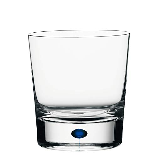 Orrefors 6257441 Intermezzo Blue Double Old Fashioned Glass, Clear