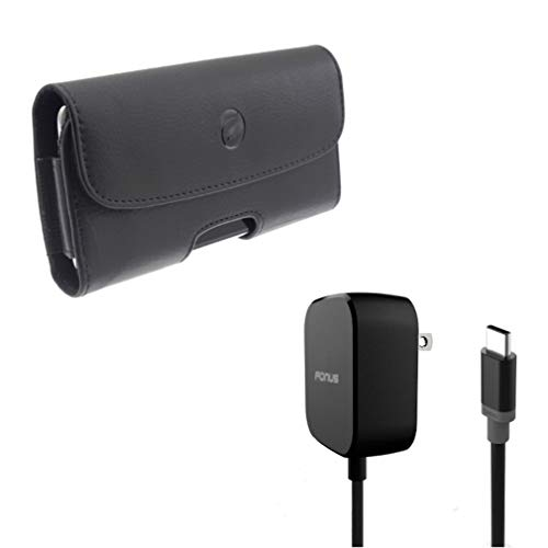 Fast Home Charger w Case Belt Clip A7G Compatible with Alcatel 7 - Coolpad Legacy - Nokia 3.1 Plus - OnePlus 7 Pro - Samsung Galaxy S10 5G Note 9 8 A9 - ZTE Blade Max View