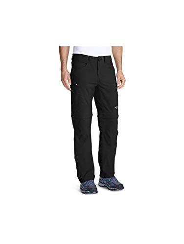 Eddie Bauer Men's Guide Pro Convertible Pants, Black Regular 34/34