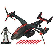 GI Joe Black Dragon VTOL With Cobra Air Trooper (Air Command Action Figure)