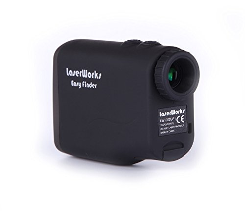 LaserWorks LW1000SPI Laser Rangefinder for Hunting Golf,Fog Measurement,Waterproof Black