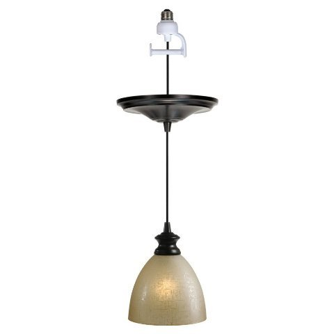 Worth Home Products Instant Screw In Pendant Light with Linen