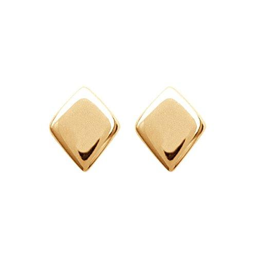 MARY JANE - Boucles d'oreilles plaqué Or Femme - Larg:4mm / Haut:5mm - Plaqué or (Losange)