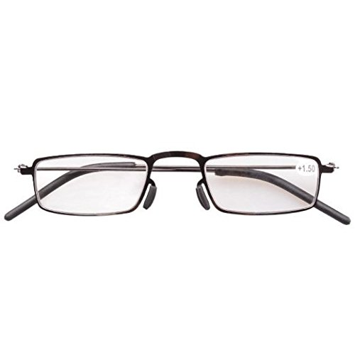 287a66f7152 Amazon.com  Eyekepper 5-Pack Straight Thin Stamped Metal Frame Half-eye  Style Reading Glasses Readers +1.5  Health   Personal Care