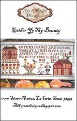 Gather Ye Thy Bounty Cross Stitch Chart and Free Embellishment ()