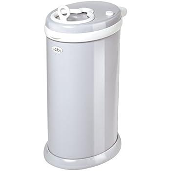 Ubbi Money Saving, No Special Bag Required, Steel Odor Locking Diaper Pail, Gray