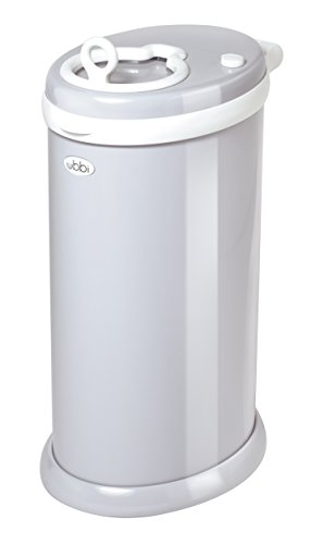 Ubbi Money Saving, No Special Bag Required, Steel Odor Locking Diaper Pail, Gray from Ubbi