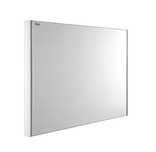 VALENZUELA Class 32 Inch Bathroom Vanity Mirror, Wall Mount, Slim Frame, White Matte Finish (VE70080101) by DAX